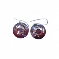 Enamelled Earrings 'Solar' Design