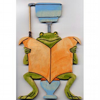 frog on bog toilet door sign