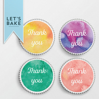 Thank you,cupcake topper, topper, rice paper cupcake topper,edible,thank you