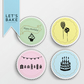 Happy Birthday,edible cupcake topper,cake topper,edible,birthday cupcake