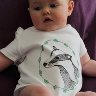 Organic Badger Baby Grow