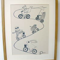 Cycling Adventure A3 Screen print SALE