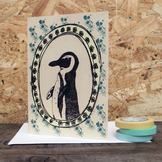 Greetings card 'Pete the Penguin' A6 Digitally printed