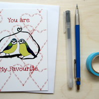 Greetings card 'You are my favourite' A6 Digitally printed