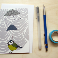 Greetings card 'Rainy day' A6 Digitally printed