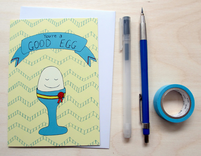 'You're a good egg' greetings card