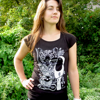 Jungle Womens bamboo T-shirt.