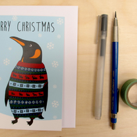 Percy the Penguin Christmas Card