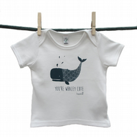 Organic 'You're Whaley cute' baby T-shirt