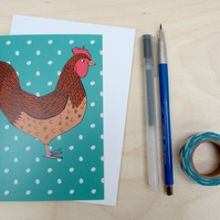 Chicken greetings card