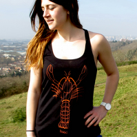 Womens Larry the Lobster  organic Vest top