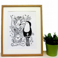 Art print 'Jungle fever' Screen print