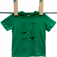 Creepy Crawly Organic Kids T-shirts
