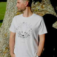 Organic 'Bertie the Badger' Mens T-shirt