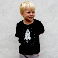 Organic space unisex childrens T-shirt