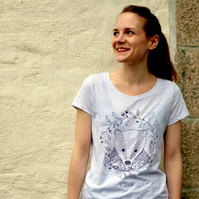 Organic 'Bertie the Badger' Womens T-shirt