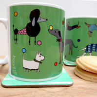 Dogs in the park mug