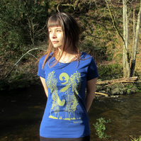 Otter and kelp organic womens T-shirt