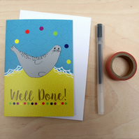 Well done seal greetings card