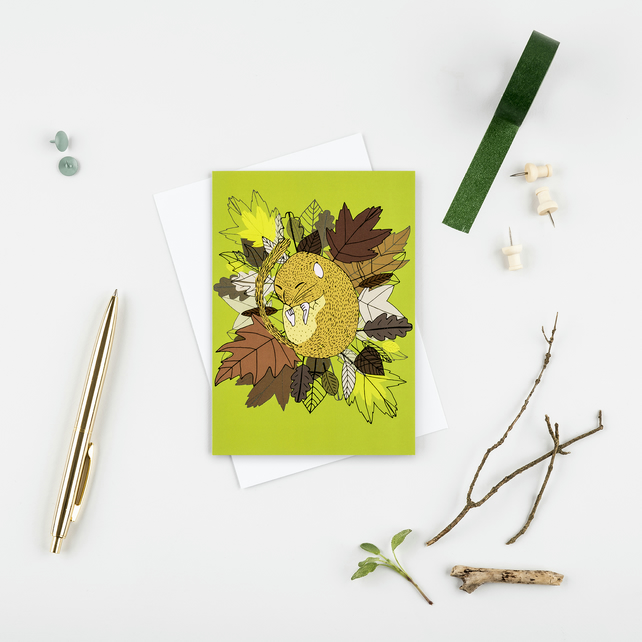 Dormouse greetings card