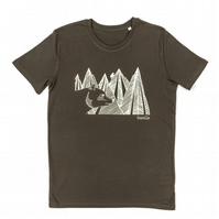 Mens Mountain Bear organic T-shirt