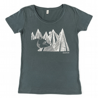 Womens Mountain bear organic T-shirt