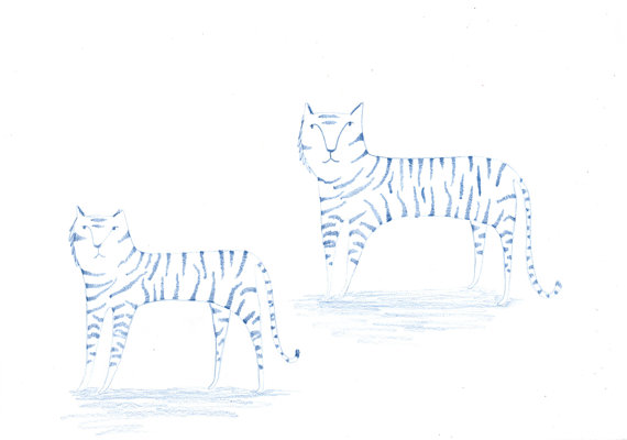 Two Tigers Original Illustration