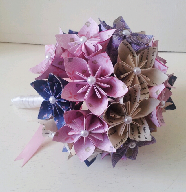 Paper Flowers Rose Origami Bouquet Wedding Paper Anniversary ... | 665x642