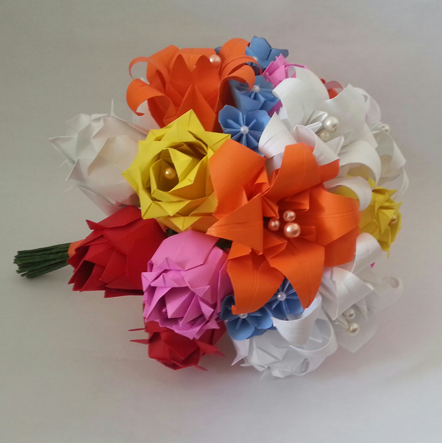 How To Make A Simple Origami Flower | Paper flowers wedding ... | 644x642