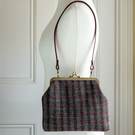 Harris Tweed shoulder bag with Liberty lawn lining and internal zip pocket