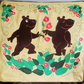 "Handmade appliqued cushion cover ""Bears in Love"""
