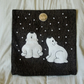 "Handmade, appliqued cushion cover ""Polar Bears in Snowy"""