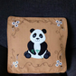 "Handmade, appliqued cushion cover ""Panda"""