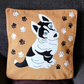 "Handmade, appliqued cushion cover ""Husky Puppy"""