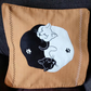 "Handmade, appliqued cushion cover ""Yin and Yang Cats"""