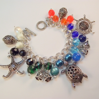 Charm Bracelet Turtle Starfish Nautical
