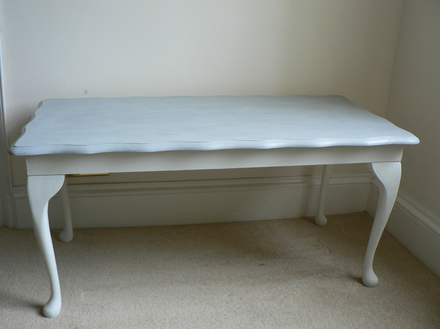 0c6ff2b6e5 Shabby Chic Coffee Table in Annie Sloan Original White and Paris Grey - SOLD