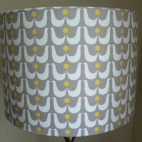 Swedish Swans Handmade 30 cm Drum Lampshade