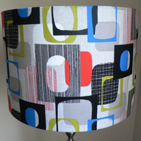 Modern Vintage 'Do Wop' Lampshade in Grey
