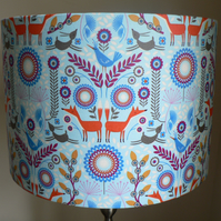 Handmade 30 cm 'Nordic Wood' Drum Lampshade