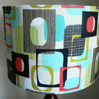 Modern Vintage Handmade 'Do Wop' Drum Lampshade