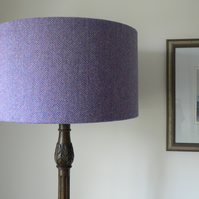 Harris Tweed Lampshade Lilac Herringbone