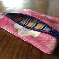 Cute little zippered key ring coin purse