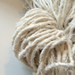 Linen and silk ethical yarn. Chunky yarn, knit, crochet, crafts. 5 yards.