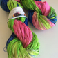 Recycled sari silk ribbon, 5 yards, tie dyed sari ribbon yarn. Knit, jewellery.