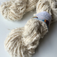 Super chunky recycled cotton yarn.White brushed cotton. 5 yards