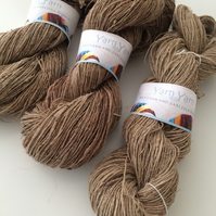 Handspun nettle yarn, organic yarn, ethical and sustainable. Knit, weave, arts.