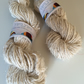 Banana yarn, 100g, vegan friendly yarn, chunky yarn, slubby, milk white