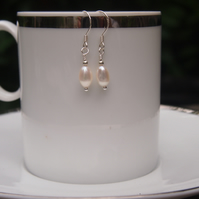 Classic ivory freshwater pearl earrings