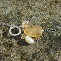 "Citrine  and sterling silver ""Abundance"" pendant"